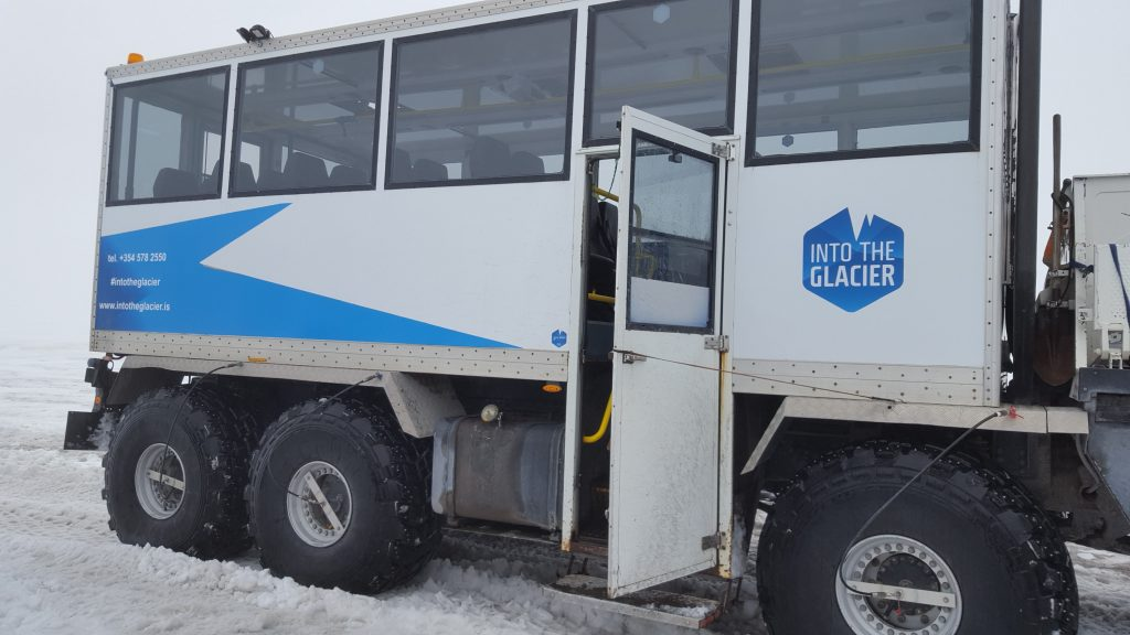 Our chariot up the glacier