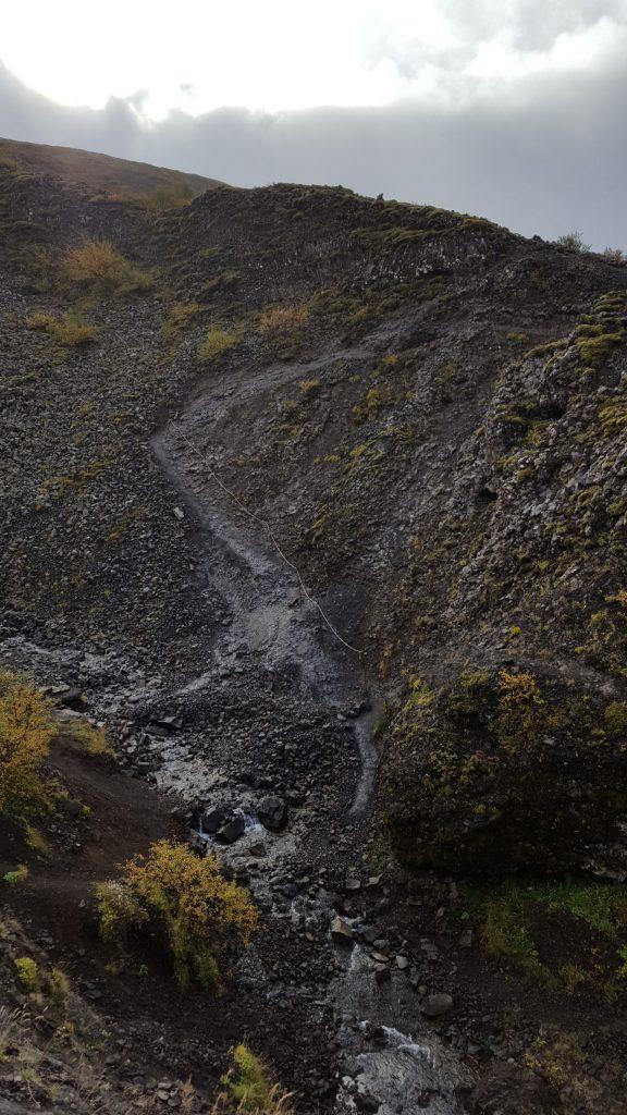 Steep climb up the gorge