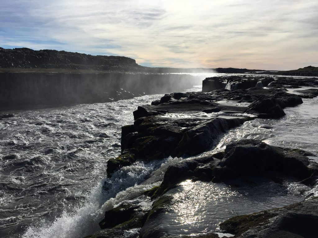 Smaller falls along the trail at Dettifoss