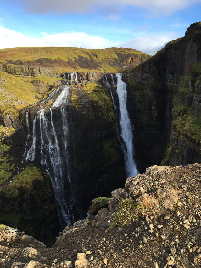 Iceland's highest waterfall