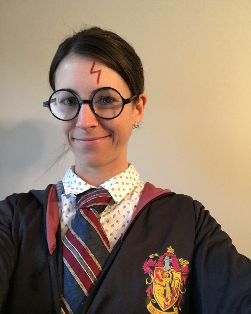 Happy Potter, ready to hand out treats!